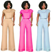 New European Style Two Piece Tracksuit Women Ladies Crop Top...
