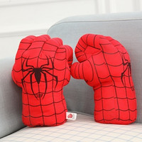 Spiderman Hulk Plush Gloves 1 Pair Boxing Cover Cartoon Anim...