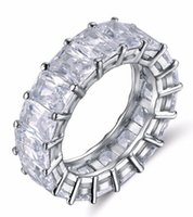 Luxury Silver wedding Ring One Row Shine 0. 7cm AAA Austrian ...