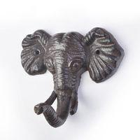 Ganci in ghisa animali Decorazione da parete Elefante Sole Farfalla Libellula Modellismo Gancio per porta gancio Spedizione gratuita ZA6634