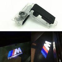 2pcs / Lot СИД двери автомобиля Предоставлено лазерный проектор M Performance Логотип Призрак Shadow Light для BMW E39 X5 E53 528i E52 M Car-стиль