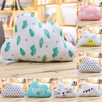 Cartoon Cloud Shaped Pillow 3D Printing Cactus Tree Cat Hone...