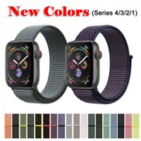 Banda para Apple Watch Series 3/2/1 38MM 42MM Nylon Suave Correa de Repuesto Transpirable Sport Loop para iwatch series 4 40MM 44MM