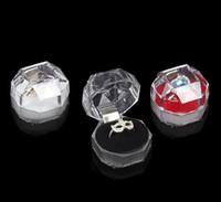 Акриловая деликатная модная коробка для ювелирных изделий для кольцевых браслетов подвесные шарики Серьги Серьги Ударные кольца Держатель Дисплей коробки Ювелирные изделия коробки и упаковка