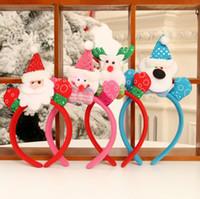 Adulte Enfants Partie Mains Up Poupée Coloré LED Boucle D'oreille Décorations Enfants Fête Performance Père Noël Bandeau Décorations