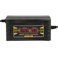 완전 자동 자동차 배터리 충전기 110V / 220V ~ 12V 6A 10A 습식 건식 산성 디지털 LCD 디스플레이 용 스마트 고속 충전