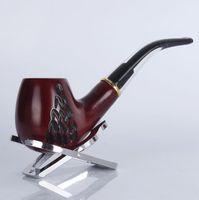 8014 kırmızı sandal ağacı ahşap oyma tütün boru yüksek dereceli metal halka filtre ağızlık parçaları katı ahşap eski boru