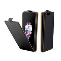 Iş Deri Kılıf Coque One Plus 5 Oneplus 5 1 + 5 Dikey Çevir Kapak Kart Yuvası Kılıfları Cep Telefonu Çanta
