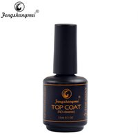 Fengshangmei 15ml Nail Gel Top Coat No Limpiar Shining Clear Nail Gel Diamond Top Coat