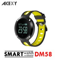 DM58 Smart Band Heart Rate Blood Pressure Bracelet IP67 Wate...