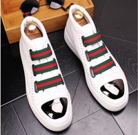 Fashion High Top casual shoes for men PU leather LACE up red...