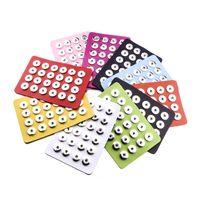 Noosa 18MM Snap Button Display 10 Couleurs Noir En Cuir Snap Display pour 24 PCS Morceaux Snap Bijoux Présentoir