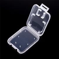 1000pcs / lot transparent clair carte mémoire SDHC standard SD Case Holder Boîte de rangement Boîte de rangement Carry pour carte SD TF LZ1685
