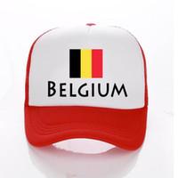 روسيا 2018 كأس العالم قبعة بيسبول بلجيكا لكرة القدم مش سائق شاحنة القبعات الصيف الاطفال / الرجال بلجيكا العلم أحد قبعة snapbacks الكبار