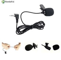 Microfono portatile universale da 3,5 mm Mini microfono con risvolto Microfono a clip lavalier per conferenza Guida didattica Microfono da studio