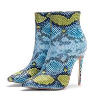Дизайнер Женщины Мода Тонкий Каблук Обувь Мода Дизайнер Женская Обувь Суперзвезд Мода Сапоги Сексуальная Змея Женщины Платье Обувь Плюс Размер