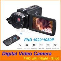 """3 """"شاشة تعمل باللمس FHD 1080P 16X تقريب رقمي CMOS عدسة 24MP كاميرات الفيديو الرقمية كاميرا الفيديو DV مع ليلة النار Hotshoe + التحكم عن بعد من قبل شركة دي إتش إل"""