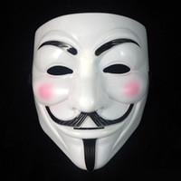 V Маска маскарадные маски для вендетты анонимный Валентина бал украшение партии анфас Хэллоуин супер страшно партия Маска 16 * 20 см