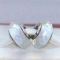 5pcs plata de ley 925 joyas de estilo blanca fascinante facetadas de cristal de Murano cupieron Europea Pandora pulseras del encanto Collares-07