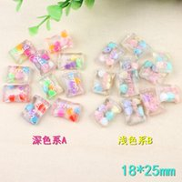 18*25mm Sweet crystal candy resin food charms and girl jewel...