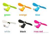 Mini ventola di raffreddamento USB portatile grande vento muto per iPhone 5 / 5s / 5c / 6/6 plus / 6s / 6s plus per Samsung Android Phone A-USB