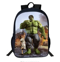 59601d7a5f65 Hot Sale Oxford 16-inches Printing Cartoon Avengers print Hulk Boys  Backpacks for Children School Bag Kids Schoolbag Tenns Bookbag