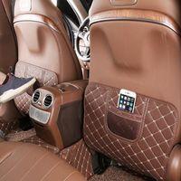 Mercedes Benz C sınıfı için Deri Koltuk arkalığı Karşıtı Kick Pad Araba Karşıtı Kirli Mat W205 2015-17 / GLC X253 2016-17