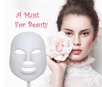 Alta qualità LED maschera facciale Cura della pelle 7 colori luci LED terapia di luce Led Photon PDT Maschera ringiovanimento della pelle Terapia di bellezza