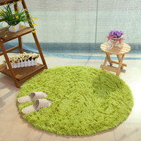 Fluffy Round Rug Carpets for Living Room Faux Fur Carpet Kid...