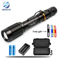 T6 L2 LED Flashlights Torch 8000Lumens zoomable led torch Fo...
