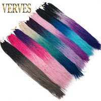 VERVES 24 inch Ombre Senegalese Twist Hair 30 Roots pack Cro...