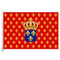 [굿 플래그] 프랑스 왕국 깃발 배너 3X5FT-90x150cm 100 % 폴리 에스테르 국가 국기, 110gsm 워프 니트 원단 야외 깃발