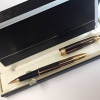 163 series Monte black and gold stripes roller ball pen luxu...