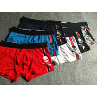 Fashion skull print underwear for men new brand breathable m...