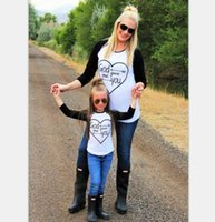 Family Matching Outfits mother daughter Black White splicing...