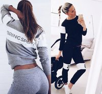 Hot Autumn Winter Fashion Women Sweater Tracksuits Jogger Sp...