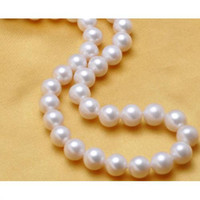 charming 10- 11mm south sea natural white pearl necklace 18&q...