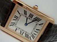 Heiße Verkauf Herren Frauenuhr Rose Gold Etui Braun Lederband Weiß Dial Watch Quarzuhr 043 Freies Verschiffen