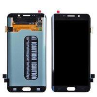 Boa qualidade para Samsung S6 Edge Plus Painéis LCD Dispaly Substituição com Moldura Touch Screen Digitalizador Reparo Quebrado Substituir