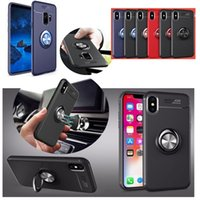 Color Metal Magnetic Ring Buckle Holder Case for iPhone XR X...