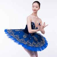 High End rápida libre del mensajero adultas del envío de las lentejuelas clásica de ballet Tutu Profesional de la crepe del ballet del tutú del ballet traje de la danza desgaste