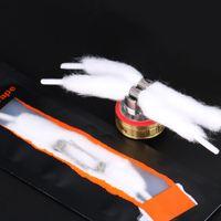 Hugsvape снег хлопок катушки комплект комплект Клэптон катушки или смешать витые катушки с органическим твердой обложке шнурок дизайн хлопчатобумажные для атомайзеров