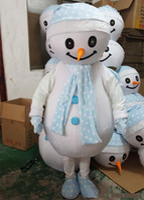 2018 de alta calidad de Navidad para adultos muñeco de nieve traje de la mascota fiesta de disfraces Street Display hecho a mano