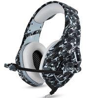 ONIKUMA K1 Camouflage PS4 헤드셋 저음 게임 헤드폰 게임 이어폰 캐스 크 (PC 용 마이크 포함) Retail package Refly