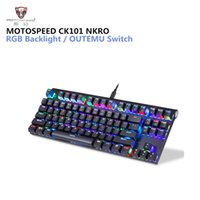 MOTOSPEED CK101 NKRO Mechanical Keyboard RGB Backlit 87 Keys...