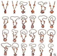 Colliers en bois de Bohême géométriques animaux perlé collier chaîne de chandail belle impression colliers souvenirs cadeaux bijoux 20 styles 486