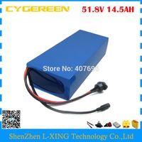 무료 통관 수수료 1000W 51.8V 14.5AH 리튬 배터리 52V 14AH 전자 스쿠터 배터리 52V ebike 배터리 사용 NCR PF 2900mah 셀