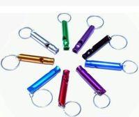 Алюминиевый Сплав Свисток Брелок Брелок Мини Для Наружного Безопасности Аварийного Выживания Спорт Отдых На Природе Охота Многоцветный