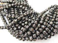 8 \ 10 \ 12 \ 16 \ 20mm Abalone Shell bijoux perles de boule ronde, perles de coquille de mosaïque, perles de nacre grises, perles MOP plein brin 16 pouces