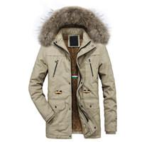 L'autunno e nuovo colore solido giacca calda giacca casual da uomo di qualità di inverno lungo incappucciato sezione più cappotto velluto di cotone